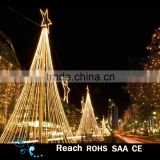 Landscape lighting led star motif tree 3d outdoor led Christmas tree for outdoor street holiday decoration