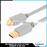 Xinya hot selling factory customized original high quality gold plated A/M to A/M USB cable with customized length