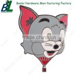 Cute zamak casted cat metal pin badge