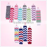 lovely fabric Wholesale toddler infants chevron leg warmer baby