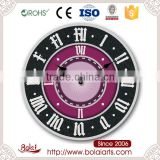 Unique bedrooms simply no noise artistic interest pure black quartz wall clock for living room
