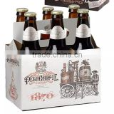 2016 paper wine box wine bottle gift box wholesale cardboard 6 pack bottle beer carriers