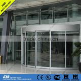 KBB crystal curved sliding automatic door for seashore and commercial building