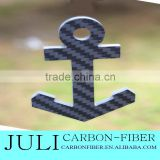 Personalized Basic Round button Carbon Fiber Key Chain