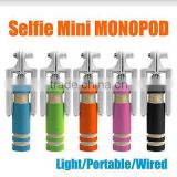 Mini Portable Wired Selfie Stick Camera Tripod Univerasal for Android for IOS Remote Self-photograph Extendable Flexible Stick