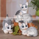 pet iterm simulation cute little cat animal ornaments with blue eyes