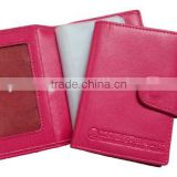 Pink Women Leather business card holder
