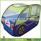 kids play bus tent with tunnel,school bus play tent-KT31