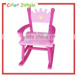 Low price kids preschool chairs stackable, high quality children chair with rush seat
