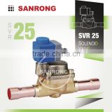SVR25 EVR25 1-3/8 1-5/8 ODF Solder Piston Operated Solenoid Valve with 110v 220 230 Volt AC for R134a R22 R407C Refrigerant