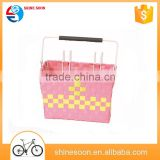 china supplier lowrider bike parts plastic bike basket bicycle front basket