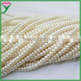 Chinese sale by bulk button natural freshwater raw pearls necklace strand