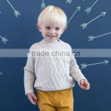 DB1267 dave bella 2014 autumn baby solid pullover kids sweater baby outwear baby clothes design knitwear pullover wool sweater