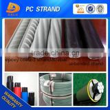 12.7mm 15.2mm Epoxy Coated Prestressed Concrete Strand Wire