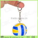 small sport balls shape pvc 3d keychains/wholesale lifelike sport ball 3d keychains/OEM plastic keychain China manufacturer