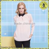 2015 New Design!!! Korean Modern Women Chiffon Blouse