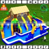 giant inflatable water park equipment house, inflatable outdoor water playground for kids play and adult game