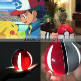 10000mah pokeball power bank pokemon charger with LED light ball power bank for pokemon phone case for iphone 6 for iphone 7                                                                         Quality Choice