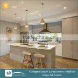 New Arrival 2016 high end OPPEIN Kitchen Cabinet Sintered Rock mdf lacquer Material Luxury Series