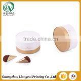 Top quality golden stamping recycled chocolate gift box small white round gift boxes with ribbon bow