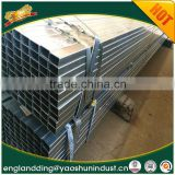 big factory of pre galvanized square steel pipe size chart