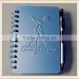 spiral address book telephone book with ball pen & hot stamping logo