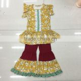 New design Cheap kid girl outfit Factory Boutique Clothing