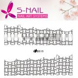 New Black Lace Nail Decal Wraps Nail Patch Sticker Gold Self-adhesive Nail Art Polish Stickers