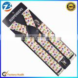 Colorful Cartoon Patterns Wide Elastic Mens and Ladies Braces Suspenders Factory Direct Sale