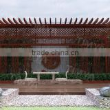 Water Proof, Fire Proof Enviromental Friendly Outdoor WPC Pergola with Cheap Aluminium Louver Pergola