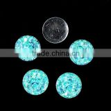 China supplier Aquamarine AB blue zircon AB pink AB colorful crocodile design with dot round stone resin beads