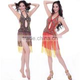 Latin Ballroom Dance Dress Free Size Belly Dance Costumes