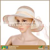 Womens Fashion Summer Sun hat Folding Travel Beach Straw hat With Lovely Bow