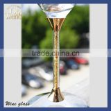 Exclusive elegant handmade customized gold rimed French gold rim wine glass/ mini wine shot glass / whisky glass