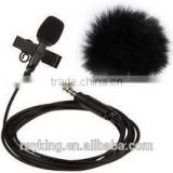 Laple mic 2M long cable with fuzzy high senstivity for intercom system and sports camera anti-wind noise