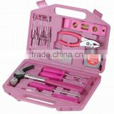 105PCS Pink tool set for women home used tool kits like 6'' slip joint pliers 6'' lever screwdriver