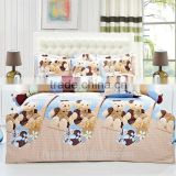 time-limited top selling double euro size duvet cover bed sheet pillow/cushin cotton 3d reavtive printing cartoon bedding set