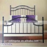 Bedroom Furniture King Single Bed Frame Powder Coated Cheap Home Furniture Metal Single Bed