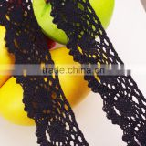 4cm china factory wedding dress french cord eyelash stretch cheap black lace fabric c400212