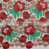 heavy gold african lace chemical water soluble embroidery lace fabric for garment accessories