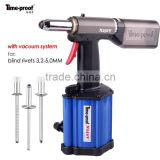 N250V Pneumatic Hydraulic Riveting Tool / Air Power Riveter / Rivet Gun with Vacuum System