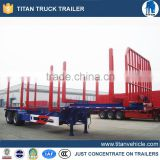 3 Axles Wood Timber Semi Trailer, Log Transport Trailer 60 Tons, Wood Transport Truck Trailer