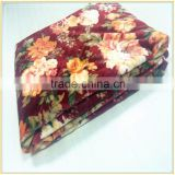 Wholesale Rose Flower Printing Fleece Throw Blanket Made IN China