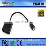 1080P HDMI to VGA Video Audio Converter cable adapter for PS3, Xbox360, Set-top box, Tablet PC, HDTV