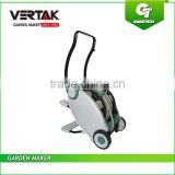 Garden Hose Reel Trolley with Foldable Handle, Retractable Hose Cart with 30M Hose ,Plastic Water Hose Cart with Foot Pedal