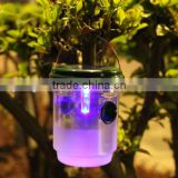 Solar Powered Light LED Insect Wasp Trap Mosquito Killer Lamp