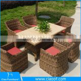 Modern 4 Seats Wholesale Used Rattan Wicker Furniture For Sale/garden furniture set