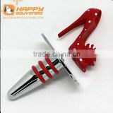 NEW CUSTOMIZED HOME POP RESIN STAINLESS RED HIGH HEEL WINE STOPPER