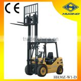 3Tons Capacity Duplex Mast Diesel Powered Forklift with ISUZU C240 Engine