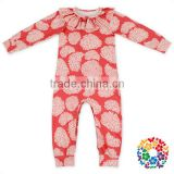 Custom Print Pattern Clothes Romper Long Sleeve Jumpsuits for Girls Spring Summer Autumn Winter Baby Romper